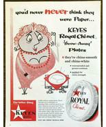 1956 PRINT AD Keyes Royal Chi-net Throw Away Paper Plates China Smooth W... - $11.89