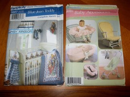 4636 5607 Simplicity lot 2 uncut Sewing Patterns Baby Accessories - $9.00