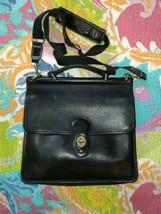 vtg COACH - L / XL beautiful black Leather crossbody turn lock purse, Bag  - $40.00