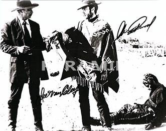 Primary image for LEE VAN CLEEF & CLINT EASTWOOD Authentic Autographed Hand Signed Photo w/ COA -3