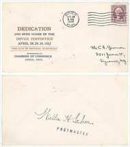 April 30 1933 Dover OH Dedication of the Post Office Cover Signed by Pos... - $4.99