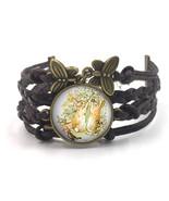 Peter Rabbit Bracelet, Leather Bracelet, Beatrix Potter Jewellery, Peter... - $10.50