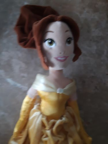 "Disney Store Belle Plush Stuffed Animal Doll Yellow Dress 19"" Beauty and Beast"