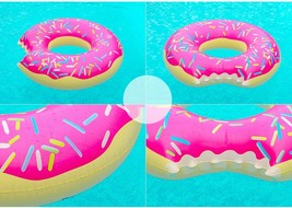 Swim About Large Donut Swim Ring Tube Pool Inflatable Floats for Adults (Pink) image 2