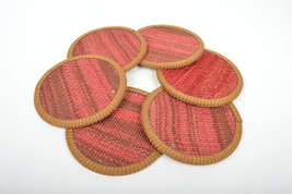 red kilim coaster,drink coasters ,coffee Coaster,handmade,Kilim Coaster  12cm - $29.00