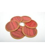 red kilim coaster,drink coasters ,coffee Coaster,handmade,Kilim Coaster ... - $29.00