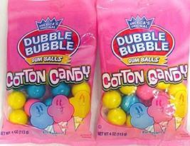 America's Original Dubble Cotton Candy Bubble Gum Balls, 4oz. 2 Pack - $8.64