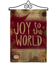 Joy to the World Burlap - Impressions Decorative Metal Wall Hanger Garde... - $33.97