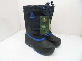 Kamik Boy's Waterbug 5 Winter Cold Weather Boot Black/Blue Youth Size 4M - $47.49