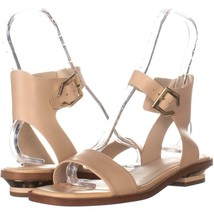 Cole Haan Avani Ankle Buckle Sandals 232, Nude Leather, 9.5 US - $56.63
