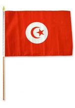 """12x18 12""""x18"""" Tunisia Stick Flag wood Staff - $18.00"""