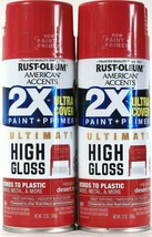 2 Rust-Oleum 12oz American Accents 328378 High Gloss Desert Rose Paint &... - $20.99