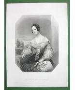 QUEEN VICTORIA'S Court Beauty Honorable Mrs. Fox Maule - SUPERB Antique ... - $21.42