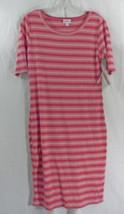 Womens Lu La Roe Dress Julia Medium Pink White Stripe Nwt - $44.59