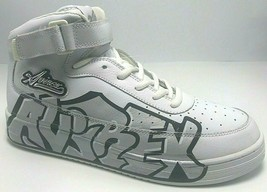 Men's Avirex White | Silver Fashion Sneakers  - $145.00