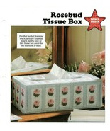 Plastic Canvas Patterns - Rosebud Tissue Box - Tissue Boxes - All-Stars - $1.13