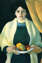 Portrait with apples (portrait of the wife of the artist) by August Macke - Art  - $19.99+
