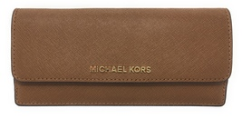 Michael Kors Jet Set Travel Saffiano Leather Slim Flat Wallet - Luggage ... - $69.95
