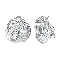 Yoursfs clip earrings for women black rose flower gold plated earring en... - $16.25