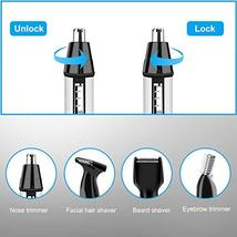 Nose Hair Trimmers Eyebrow Trimmers Ear Hair Trimmers Electric Shavers 4 in 1 US image 6