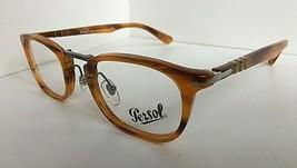 New Persol 3126-V 960 Amber 48mm Rx Eyeglasses Frame  Italy - $179.99