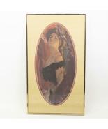 Framed Print Young Woman Victorian Era - $64.34