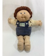 Vtg 1985 Coleco Cabbage Patch Kids Doll Brown Hair w/Denim Overalls Outf... - $17.81