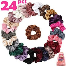 Velvet Scrunchies 24 Assorted Scrunchies for Hair Accessories for Girls and - $14.87