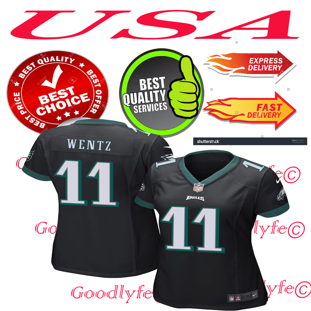 2077a038f Wentzwomenblack. Wentzwomenblack. Previous. Carson Wentz Philadelphia  Eagles NFL Football Women Black Jersey