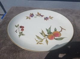 Royal Worcester Evesham Gold Oval Serving Platter - Fruit 13X11 - $27.67