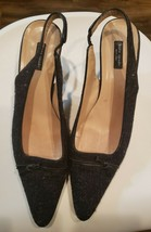 Kate Spade New York Slip on Womens Size 10 Black Suede Heels Shoes Made in Italy - $42.03