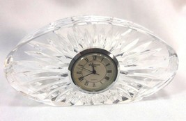 Marquis Waterford Irish Crystal Clock Sheridan Pattern TESTED WORKING - $14.03