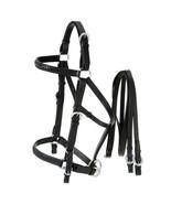 Tough 1 Aussie Leather Horse Bridle Halter Combination Australian Black ... - $57.41