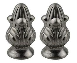 Urbanest Set of 2 Rothwell Lamp Finial, 1 5/16-inch Tall, Brushed Nickel - $15.83
