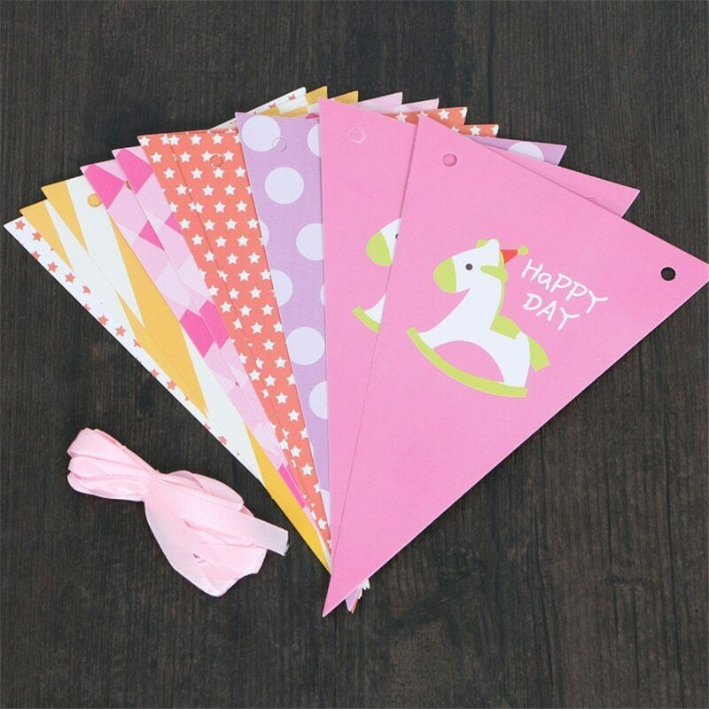 Primary image for Trojan Paper Bunting Banner Cute BirthdayParty Baby Shower Decor Letter Hanging
