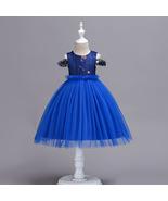 Royal Blue Short Ball Gowns Flower Girls Dresses Belt Formal Pageant Gow... - $38.50