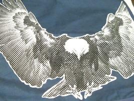 "Pottery Barn Teen Dark Blue Eagle Sham Hawk Factor Pillow Cover 18""x 18 ... - $27.23"