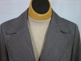 Talbots Womens Business Blazer Size 6 Brown Narrow Stripes 100% Wool Lined image 2