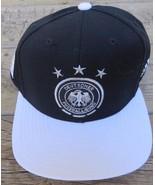 New Deutschland National Team Snapback 2014 Brasil World Cup Adidas Blac... - $39.55