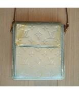 Auth Louis Vuitton Vernis Monogram Handbag Silver Front Pocket Zipper LV... - $175.23