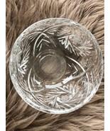 Lead Glass Vase Saucer Маленькая Хрустальная Вазочка - $13.50