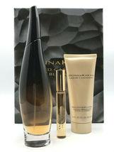 Donna Karan Liquid Cashmere Black 3.4 Oz Eau De Parfum Spray 3 Pcs Gift Set image 1