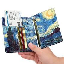 Premium Vegan Leather Travel Passport Holder RFID Blocking Cards Case C... - £6.33 GBP