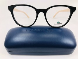 New LACOSTE L2834 001 Black Eyeglasses 52mm with Case - $74.20