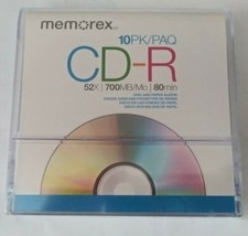 Memorex 700MB/ 80 Minute 52X CD-R 10 Pack NEW and SEALED - $19.79