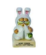 Garfield figurine vtg Here comes Kitty Cottontail Easter bunny rabbit enesco '82 - $29.65