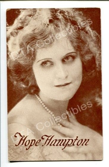 Primary image for HOPE HAMPTON-PORTRAIT-1920-ARCADE CARD! G