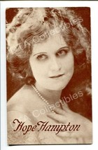 HOPE HAMPTON-PORTRAIT-1920-ARCADE CARD! G - $21.73