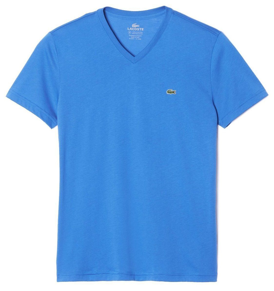 NEW LACOSTE MEN'S SPORT ATHLETIC PIMA COTTON V-NECK SHIRT T-SHIRT WEST INDIES