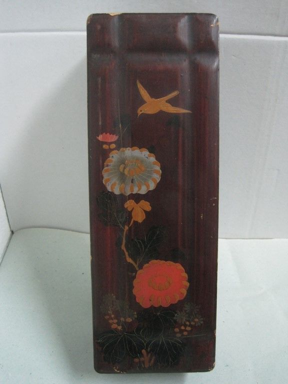 Primary image for Antique CHINA CHINESE big box Laquered  with a flowers and a bird